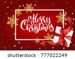 christmas greeting card. merry... | Shutterstock .eps vector #777022249