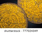 yellow silkworm soft cocoon... | Shutterstock . vector #777024349