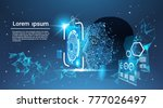 face recognition system concept ... | Shutterstock .eps vector #777026497