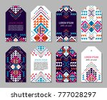 bright colorful vertical tag... | Shutterstock .eps vector #777028297