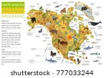 north america flora and fauna... | Shutterstock .eps vector #777033244