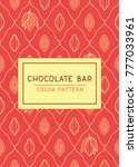 chocolate bar package design... | Shutterstock .eps vector #777033961