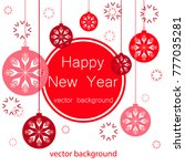 new year vector greeting card ... | Shutterstock .eps vector #777035281