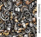 cartoon cute doodles automotive ... | Shutterstock .eps vector #777035941