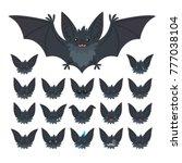 hallowen character emoticon set....   Shutterstock .eps vector #777038104