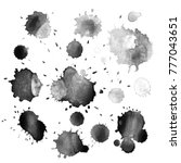 abstract hand drawn watercolor...   Shutterstock .eps vector #777043651