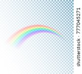 rainbow icon. colorful light... | Shutterstock .eps vector #777045271