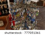 souvenir shop  showcase with... | Shutterstock . vector #777051361