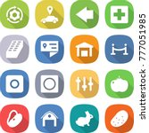 flat vector icon set   around... | Shutterstock .eps vector #777051985