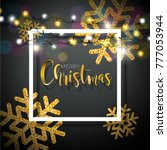 christmas background with... | Shutterstock . vector #777053944