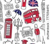 vector seamless pattern london... | Shutterstock .eps vector #777056491