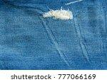 close up blue jeans denim...   Shutterstock . vector #777066169