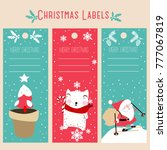 christmas labels and decoration ... | Shutterstock .eps vector #777067819