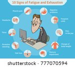 template with ten signs of... | Shutterstock .eps vector #777070594
