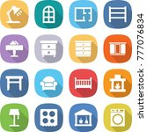 flat vector icon set   table... | Shutterstock .eps vector #777076834
