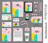 corporate identity template set.... | Shutterstock .eps vector #777077719