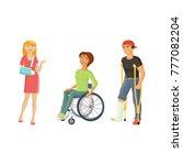 disabled cartoon people...   Shutterstock .eps vector #777082204