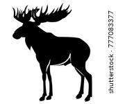 vector image of elk silhouette | Shutterstock .eps vector #777083377
