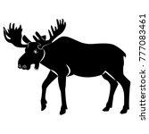 vector image of elk silhouette | Shutterstock .eps vector #777083461