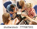 team collaboration meeting...   Shutterstock . vector #777087301