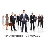 business man and his team... | Shutterstock . vector #77709112