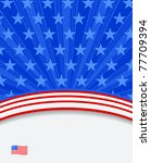 american flag background - stock vector