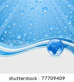 Water Drops Background With...