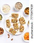 nutrition energy bar. healthy... | Shutterstock . vector #777097939