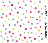 vector color polka dot... | Shutterstock .eps vector #777100021