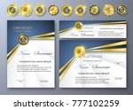 qualification certificate of... | Shutterstock .eps vector #777102259