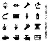 origami style icon set   bulb... | Shutterstock .eps vector #777103081