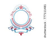 graphic emblem created with... | Shutterstock .eps vector #777111481
