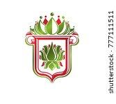 vintage heraldic emblem created ... | Shutterstock .eps vector #777111511