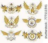 vintage decorative heraldic... | Shutterstock .eps vector #777111541
