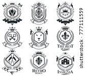 vintage heraldry design... | Shutterstock .eps vector #777111559