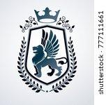 heraldic sign  element ... | Shutterstock .eps vector #777111661