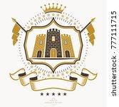 heraldic coat of arms... | Shutterstock .eps vector #777111715