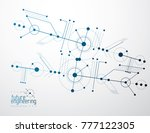 futuristic abstract vector... | Shutterstock .eps vector #777122305
