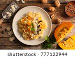 italian risotto with pumpin and ... | Shutterstock . vector #777122944