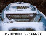 unexpected autumn snow  pre... | Shutterstock . vector #777122971