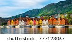 bergen  norway. view of... | Shutterstock . vector #777123067