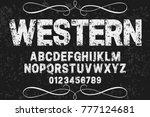 font alphabet script typeface... | Shutterstock .eps vector #777124681