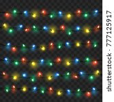 glowing lights for xmas holiday ...   Shutterstock .eps vector #777125917