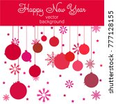 new year vector greeting card ... | Shutterstock .eps vector #777128155