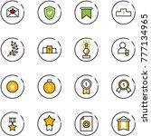 line vector icon set   star... | Shutterstock .eps vector #777134965