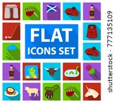 country scotland flat icons in... | Shutterstock .eps vector #777135109