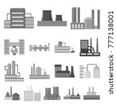 factory and facilities... | Shutterstock .eps vector #777138001