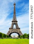 the eiffel tower | Shutterstock . vector #77713957