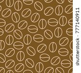 coffee beans seamless pattern ... | Shutterstock .eps vector #777140911