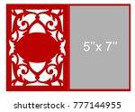 laser cut flower template for... | Shutterstock .eps vector #777144955